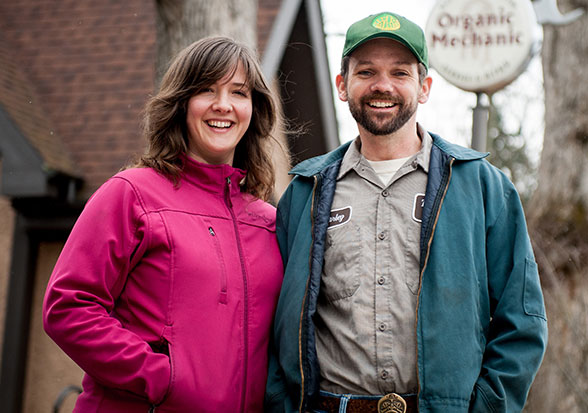 Charley Wilson, Owner with Kate Vermeer Wilson | The Organic Mechanic